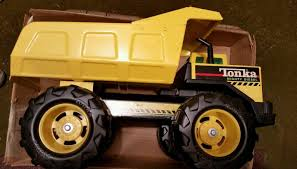 Vintage Tonka Mighty Diesel Dump Truck Big Wheels, Pressed Steel ...