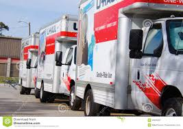 U-HAUL Moving Trucks Parked In A Line Editorial Photography - Image ...