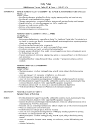 Download Administrative Sales Assistant Resume Sample As Image File