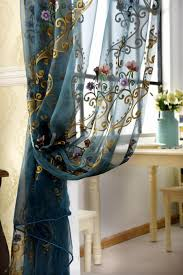 Modern Window Curtains For Living Room by Embroidery Window Curtains For Living Room Luxury Tulle Window