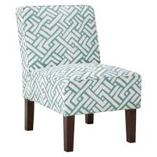 Burke Slipper Chair With Buttons by Threshold Slipper Chair Turquoise Geo Fabulous Furniture