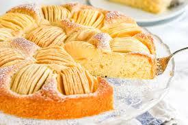 gesunde desserts versunkener apfelkuchen vegan