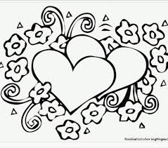 Hearts Printable Coloring Pages Valentines Free Zentangle Blank Images