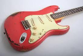 Fender Custom Shop Michael Landau Signature 1963 Stratocaster Relic Fiesta Red Over 3 Colour Sunburst