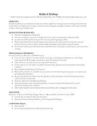 Sample Of Nanny Resume Info