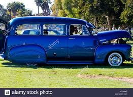 1952 Chevrolet Custom Panel Truck Shown At Car Show In Goleta Stock ...