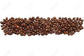 Coffee Beans Without Background For Design Or Texture Stock Photo