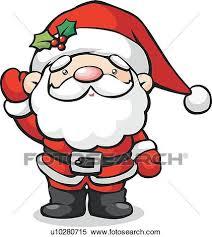Stock Illustration Santa Waving Fotosearch Search Clipart Drawings Decorative Prints