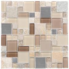shop elida ceramica 12 in x 12 in earth cubes stainless mosaic