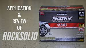 Rocksolid Garage Floor Coating Kit by How To Apply Rustoleum Rocksolid Garage Floor With Review Youtube