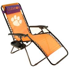 Anti Gravity Lounge Chair Cup Holder by Amazon Com College Covers Clemson Tigers Textilene Zero Gravity