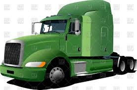 American Prime Mover With Green Cabin - Heavy Truck Vector Image ...