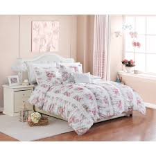 Bed Comforter Set by Better Homes And Gardens 5 Piece Floral Ruching Bedding Comforter