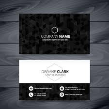 Dark Modern Business Card Template 3 Tarjeta De Visita