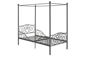 Twin Metal Canopy Bed Pewter With Curtains by Amazon Com Dhp Canopy Metal Bed Frame Twin Size Silver Kitchen