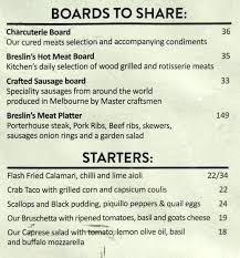 menu at breslin 2 southbank blvd restaurant prices