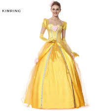 online get cheap woman belle beauty and the beast dress