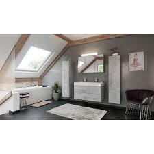 doppelbadmöbel set livono 170 cm 5 teilig weiß hochglanz