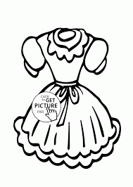 Doll Dress Coloring Page For Girls Printable Clothes Pages Adult