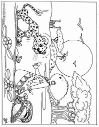 Kid And Leopard Coloring Page