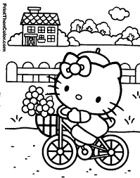 Hello Kitty Valentines Day Coloring Pages Printable Free Christmas Print Full Size