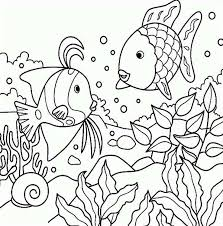 Sea Animals Free Rainbow Fish Coloring Page