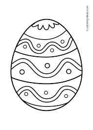 Easter Egg Coloring Pages Free Prin