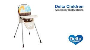 Cosco Flat Folding High Chair by Delta Children Novel Ideas High Chair Assembly Video Youtube