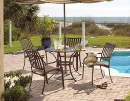 Island 5 Piece Breeze Dining Set Hospitality Rattan Aluminum Patio Outdoor Furniture Swivel Chair Country Rustic