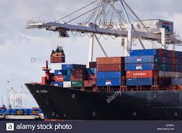 100 Shipping Containers San Francisco A Gantry Crane Loading Containers On Cargo Ship