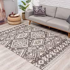 teppich hochflor wohnzimmer ethno geo design 140x200 cm