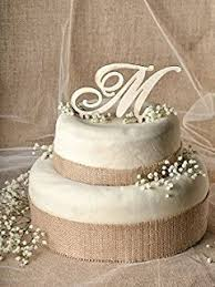 Rustic Wedding Cake Topper Wood Initial In Any Letter A B C D E F G H I J K L M N O P Q R S T U V