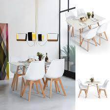 NBFurniture Scandinavian Retro Style Modern Dining Table Amazon