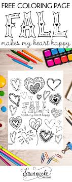 FREE Coloring Page Fall Makes My Heart Happy Download It At Dawnnicoledesigns