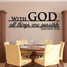 With God All Things Are Possible Decal