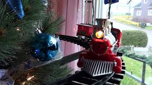Amazing Christmas Tree With A Train In It