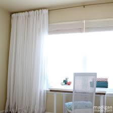 Spring Loaded Curtain Rod Ikea by How To Create An Extra Long Curtain Rod Rosyscription