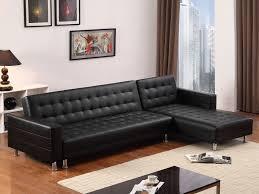 canape d angle simili canapé d angle réversible et convertible en simili cuir coleen noir