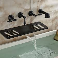 Brushed Bronze Tub Faucet by Waihilau Oil Rubbed Bronze Finish Water Fall Bathtub Faucet With