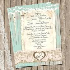 Lace And Burlap Wedding Invitations With Mansion Jars