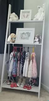 Attach Rail To Kmart Ladder Shelf For Dress Up Station In Basement Shelves Bins With Accessories