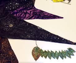 Halloween Mantel Scarf by Beadwork In Progress Halloween Crazy Quilt Mantel Scarf And Leaf