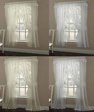 Priscilla Curtains With Attached Valance by Priscilla Curtains Ebay