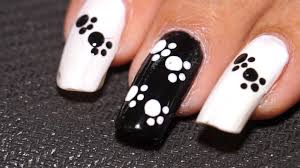 Cat Paw Print Pumpkin Stencil by Nail Art For Beginners Easy U0026 Cool Cat Paw Nails Youtube