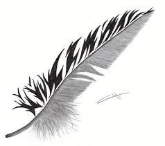 Love Heart Feather Tattoo Art