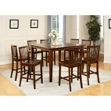 Silver Dining Room 9 Piece Counter Height Sets