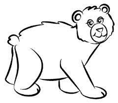 Cartoon Bear Coloring Pages By Lisa