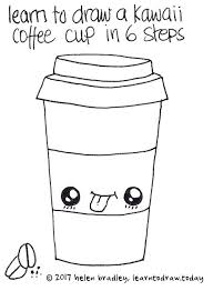 How To Draw A Coffee Cup Learn Cute Takeout Step By