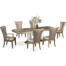 Angelina Double Pedestal Table Two Arm Chairs And 4 Side