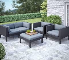 Furniture Contemporary Patio Decoration With Patio Conversation